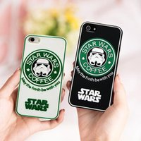 best case fan - Best Star Wars Starbucks Cases Fans gifts Stormtroopers Darth Vader coffee Soldiers case Silicone Back Cover for iphone S plus S S