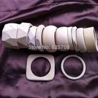 Cheap 12 Design Free Shipping DIY Unfinished Wooden Bangle Bracelet Sets Sale By Mixed Design 48pcs lot SMT-388