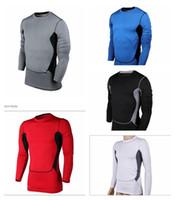 Wholesale 2016 Mens Long Sleeve base layer Undershirt Sweatshirt Cycling Bicycle Bike Running Jersey Breathable Skin Tight