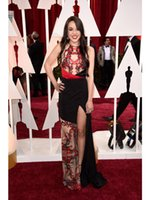Wholesale 2015 Lorelei Linklater Celebrity Dresses the th Oscar Academy Award Jewel Evening Gown with Embroidery See Through Prom Dresses with Split