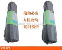 Wholesale Fine Nylon Yoga Mat Bag Carrier Mesh Center Black TSY