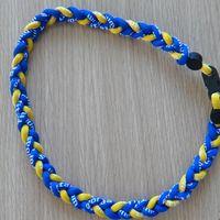 baseball energy necklace - New Germanium ropes titanium sport necklaces Braided Sports Football Baseball Tornado Pendant Healthy Energy Body Jewelry