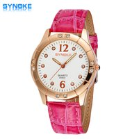 batteries malaysia - SYNOKE Top Brand Female Watches Aigner Ladies Watches Malaysia Water Resistant Watches Argos Geneva Womens Quartz Watch Hombre