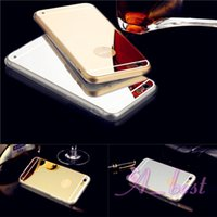Wholesale For iPhone S TPU Mirror Electroplating Case Soft Rubber Back Cover For iPhone6 G G G Phone Case Cases