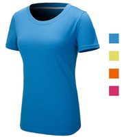 Wholesale 2015 NEW Outdoor Women Sportwear Quick Dry T Shirts Camping Hiking Running Sport Tees Slim Fit Sport Shirt Sizes Colors