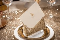 Wholesale Gold Laser Cut Wedding Invitation mm Wedding Supplies Wedding Accessories Party Invitation Cheap High Quality