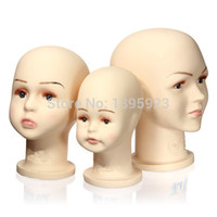 Wholesale 3 Size Children Manikin Head Mannequins Hats Wig Mould Show Stand Model Display