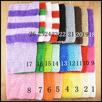 "Cheap Mix Wholesale Hot Selling 26 Colors 23 X20cm 9""   8"" Toddler Baby Girl Elastic Crochet Tube Top Tutu Tops Chest Wrap Wide Crochet Headbands"
