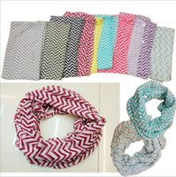 chevron scarf - BBA4226 women Fashion Chevron Zigzag Print Scarf Circle Loop Cowl Infinity Scarves lady Voile Jersey scarf ring collar shawl neckerchief