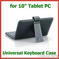 Wholesale DHL quot quot Inch USB stand Leather Keyboard Case for Android ePad aPad Tablet PC JP10