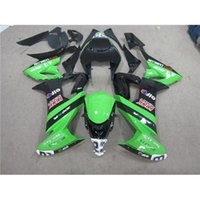 Wholesale Customized For Kawasaki Fairing Kit ZX10R Year Compression Molding Motorcycle Body Parts Complete Set Glossy Green Black Ninja