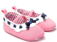 best shoes for toddler girls - best selling new Pink Princess Shoes Baby Girls Lace Bow First Walker Shoe Toddler Fabric Soft Sole Antikid Moccasins For Year