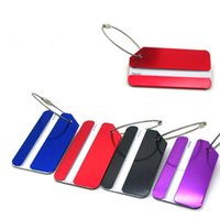 Wholesale Aluminium Holiday Metal Suitcase ID Tag Belt Buckle Adress Holder Travel luggage tag baggage check card travel lable boarding pass