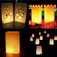 Wholesale 20 Star MoonTea light Holder Luminaria Paper Lantern Candle Bag For Christmas Party Home Outdoor Wedding Decoration LZD