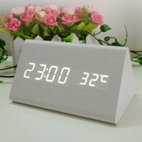 Wholesale Despertador Digital Alarm Clock Sveglia LED klok One Piece Masa Saati Reloj Madera Termometro Relogio Alarme Reveil Gadgets Cool