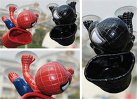 auto spider man - Spider Man with Busket Auto Part Lovely Car Accessories Cute Decoration Black Red Cool Suction Cups Doll