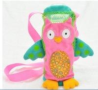 Acheter Feeding bottle-100pcs / lot Child Safety Enfant Bébé Cartoon Animals Nourrir Paille pour boire Bouteille Sippy Cup Kid Drink RSS Porte-Bouteille