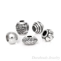 european beads free shipping - Mixed Antique Silver Acrylic Beads Spacers Beads Fit European Charm B03266