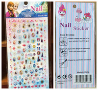 animals nail art - Cartoon Nail Stickers My Little Pony Frozen kitty Barbie Princess Sofia Nail Art Sticker Nontoxic nail decals cm theme