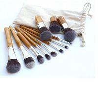 Wholesale Pro Cosmetic Brush set Bamboo Handle Synthetic Makeup Brush Kit make up toiletries brush tools Set