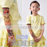 arm gloves kids - Cheap Children Carton Tattoo Sleeves Kids Tattoo Arm Sleeves Fake Tattoo Sleeves Body Art
