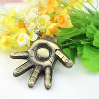 bag pewter charms - New Arrival Marvel Super Hero Iron Man Hand Pewter Metal Necklace Bag Clip Avengers pc