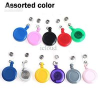 Wholesale 1000 Multi Functional Plastic Retractable Badge Reel Buckle Fastener with Badge Holder Strap Back Clip Assorted Color