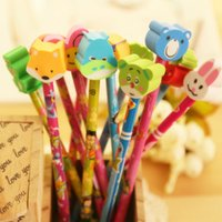 Wholesale B10 cute student prizes birthday gift ideas corporate gifts new pencil with a rubber sleeve