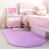 plush carpet - Hot Sale mm Colors Oval short Plush Soft Carpet Area Rug Slip Resistant Floor Mat For Bedroom Living Room
