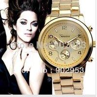 Cheap 100pcs lot carzy sale 5color cheap metal geneva wrist watch for men women metal band chinese quartz movementa10c