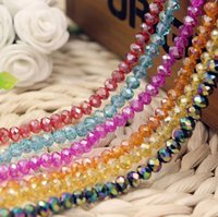 Wholesale AB color mm crystal Loose beads DIY craft accessories beads charm bracelets necklaces Fashion cheap jewelry AL