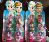 al por mayor juguetes para los niños de las muchachas-Hot Elena helado y juguetes de princesa Anna Olaf Kristtof Sello Stamper figura de acción de juguetes para niños Niñas Niños Hobby Kids Gifts 6 piezas / SET