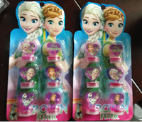 Wholesale Hot Frozen Elsa And Anna Princess Toys Olaf Kristtof Seal Stamper Action Figure Toys For Boys Girls Children Hobby Kids Gifts SET