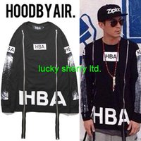Cheap 2015 Hood By Air HBA 69 Skull Zipper Full T-Shirt Fuck Sweatshirts Men Fashion Hip Hop Streetwear Cotton Couples Full T-Shirts
