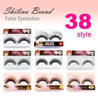 Wholesale SHILINA Pair Natural Long False Eyelashes Styles Thick Crisscross Fake Eye Lashes Extension Brand Makeup