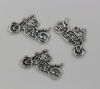 motorcycle charms - Hot Tibetan Silver Motorcycle Charms Pendants mmx25mm
