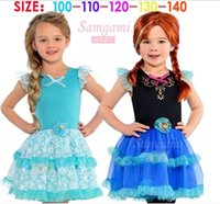 Wholesale new Drop shipping new frozen baby princess party tutu dress for girls summer Elsa and Anna cute children clothing kids wear