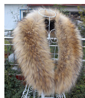 Wholesale real Wonderful raccoon fur Down jacket collar natural brown
