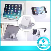Wholesale 100x Basics Adjustable Desktop Tablet Stands Holders for Smartphones Tablets to Inch Apple iPad Air Mini Samsung Galaxy Tab