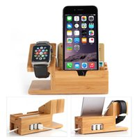 apple buckets - Apple Watch iwatch iPhone Bamboo Charging Station Stand Dock Bucket Wood Phone Holder For iPhone Plus S