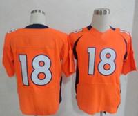 Football football jersey - Hot Sale Manning Orange Blue White Men s Elite American Football Jerseys Authentic Football Uniforms Cheap Sportswear Allow Mix Order