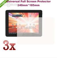 Wholesale 3PCs quot Amoi Q90 Aoson M33 M19 M30 M11 M12 Newsmy N28 Quad Core Tablet Clear Screen protector Film Screen Guard Free Ship