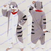 adult onesies - Brand New Cheese Cat Cartoon Animal Onesies Onesie Adult Unisex Kigurumi Cosplay Costumes lovely Women Pyjamas