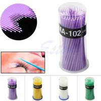 Wholesale Disposable Eyelash Micro Brushes Mascara Wands Swab Applicator Extension Y122