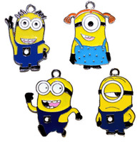 enamel charms - new mixed Despicable Me Minion Metal Alloy Enamel Charms Pendants for Jewellery