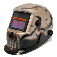 Wholesale Fashion Skull Gold Solar Electrowelding Auto Darkening Welding Helmet TIG MIG Welder Protection Mask Hat MAC_10T