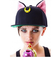 baseball cap brim material - fashion design cotton Cat ears material dancers baseball caps hats for men and women street dance hip hop cap flat brim hat