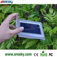 Wholesale Motion Detection Detector PIR Solar Powered Wall Lamp LEDs Lights Light Motion Sensor Lighting Garden SL P