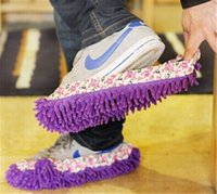 house shoes - Floor Dust Cleaning Shoes Mop House Clean Shoe Cover Multi function Slippers