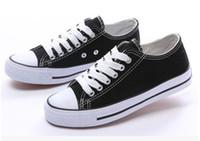 Wholesale Size35 New Unisex Low Top Adult Women s Men s Canvas Shoes Laced Up Casual Shoes Sneaker Shoes